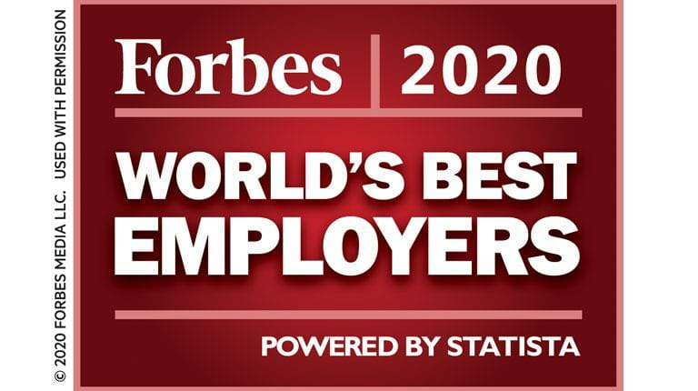 Forbes 2020 World's Best Employers